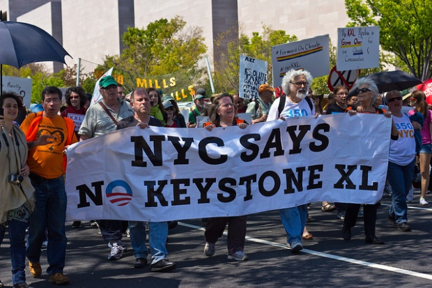 350NYC joins the Cowboy and Indian Alliance to Reject the Keystone XL Pipline and Protect our planet.